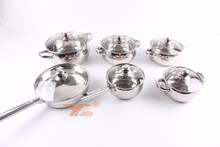 Popular Kitchen 12 pcs Capsule bottom cooking pot stainless steel induction cookware