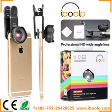 Attractive design lotus appearance 18mm peofessional HD wide angle lens with detachable universal clip lens for cell phone