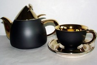 KELT Collection black and gold - Tea set