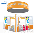 Detian Offer 20x20ft custom exhibition booth trade show tent with top ceilling