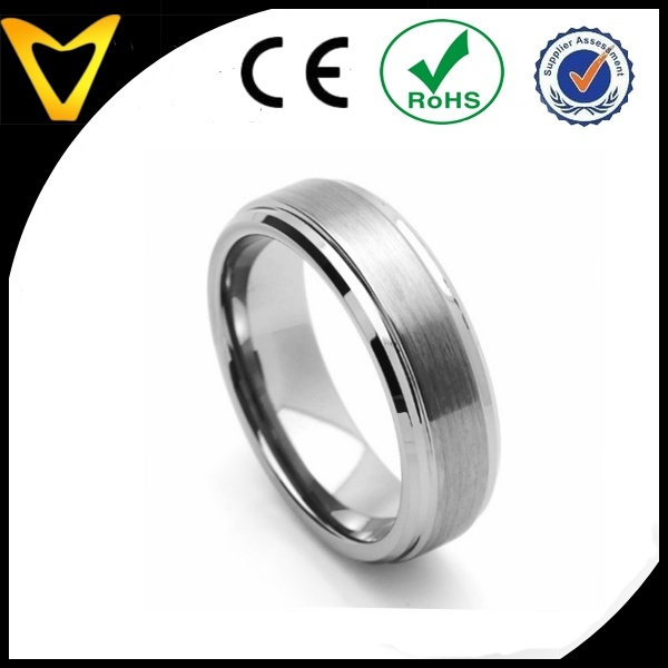 7MM Tungsten Carbide Beveled Edges Rings,2015 mens tungsten rings