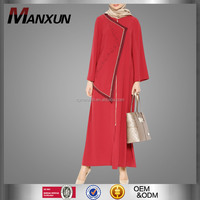 Stylish Design Wholesale Women Islamic Clothing Red Thobe New Model Dubai Abaya in Dubai
