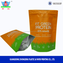 factory supply whey protein foil linked resealable stand up protein powder bags
