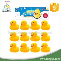 Good quality 12pcs bath mini rubber duck toy