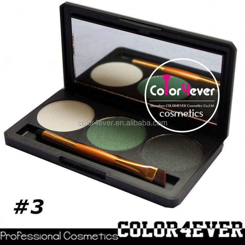 Factory wholesale powder mineral makeup 3color eyeshadow palette loose mineral eyeshadow