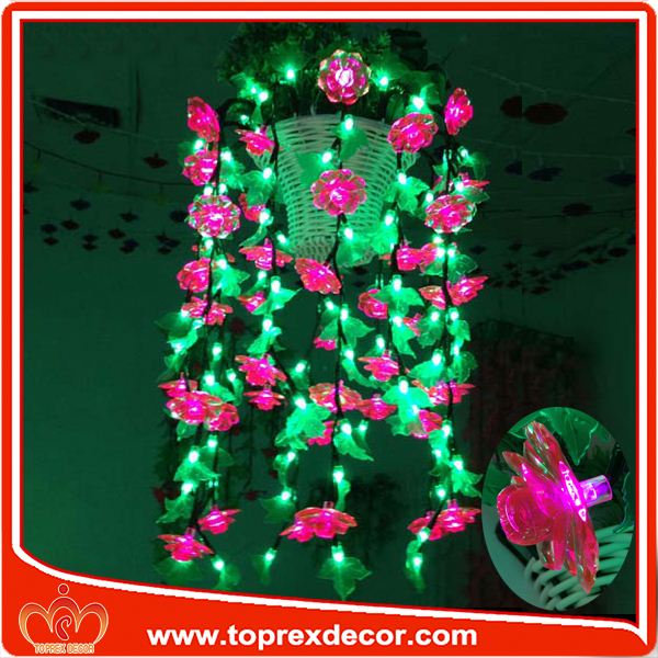 Gold supplier outdoor artificial plastic flowers