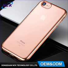 High quality wholesale clear soft electroplating TPU mobile phone case for iphone 6 7