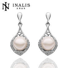 Elegant white gold dubai jewellery made with pearl LKN18KRGPE522