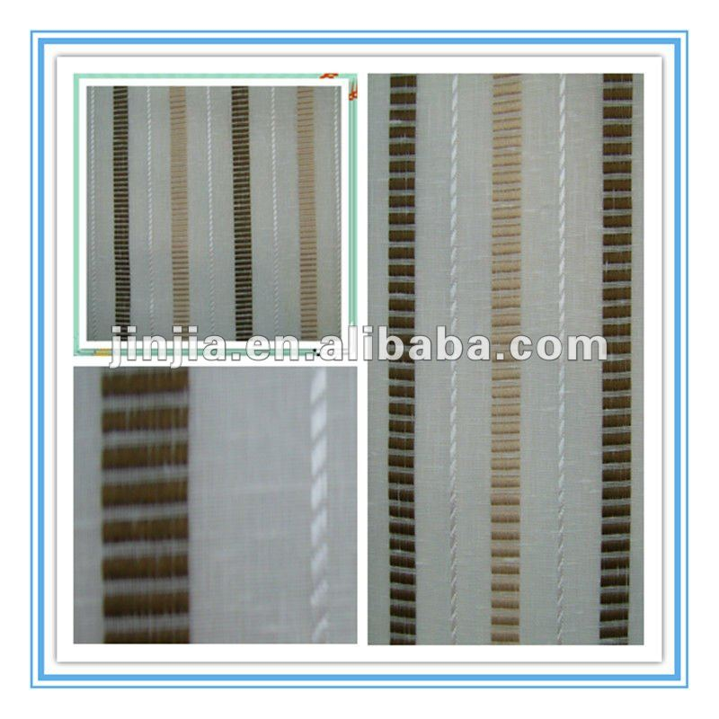 2012 new Linen sheer curtain design
