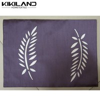 2015 Kikiland latest design factory wholesale vinyl woven polyester placemat