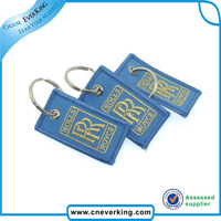 Custom item embroidery promotional key chains