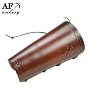 Brown Traditional Cow Leather Arm Restraint Protector Guard pull Bow protect Arm for Shooting Barcer Hunting Archery Accessory