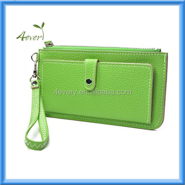 2014 Popular envelope elegant lady leather purse in alibaba china women wallet