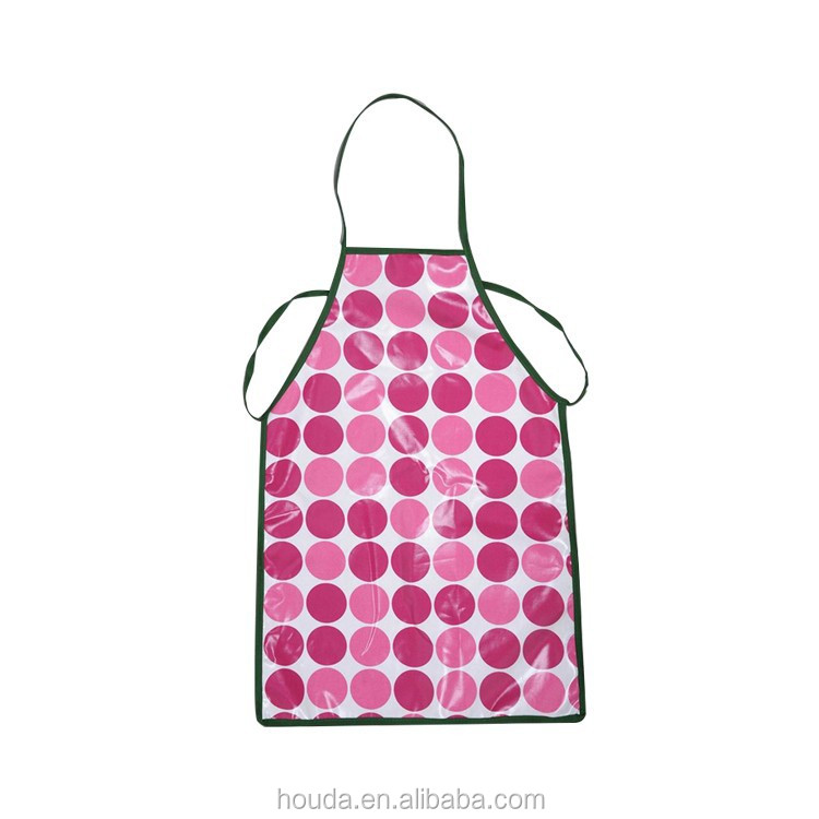 fashionable printed waterproof pvc coated cotton kids apron kids kitchen apron kids art apron