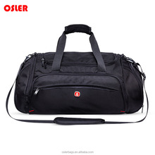 Outdoor fashion travel bag sport style duffel bag with tote and long strap