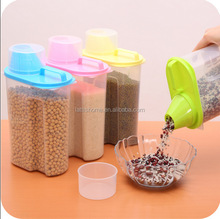 2.5L High Production food grade plastic container organize storage kitchenware Coarse grain storage