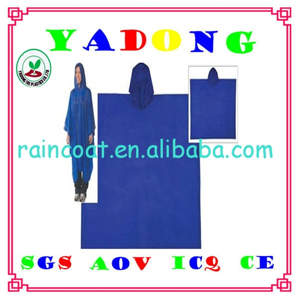 pvc pe peva rain poncho/advertising pvc rain poncho raincoat
