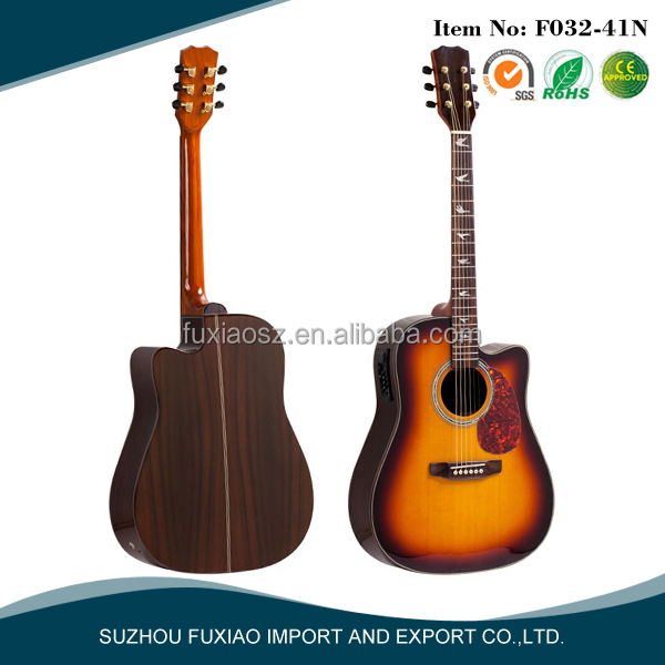 high end solid wood acoustic guitar 41 inch the guitar store