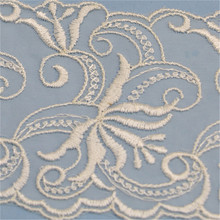 High Quality Swiss Voile Lace Jacquard Round Table Napkin Cloth