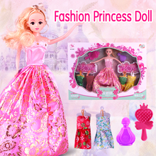 Wholesale high quality beautilful girl gift dress up make up kids toy dolls