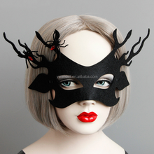 Wholesale Mask Party School Facial Black Felt Animal Deer Mask