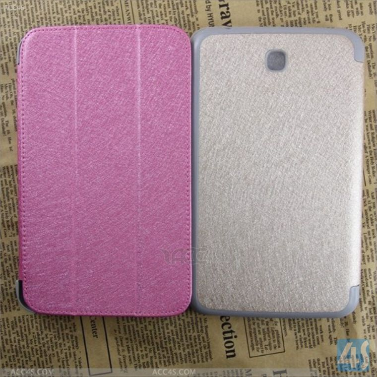 "3 folding flip leather smart cover case for Samsung Galaxy Tab 3 7"" P3200"