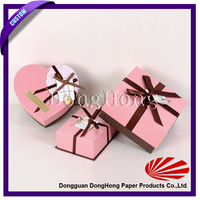 High Quality Chinese Factory candy heart shaped wedding favor box