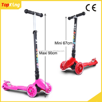 best new professional kids three wheel kick scooter / folding kick scooter with rubber handle