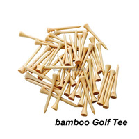 EN71 standard factory direct sale customized print cheap bamboo golf tee