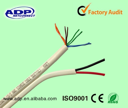 IP camera UTP CCTV cable/Cat5e Siamese cable with power