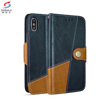 Saiboro Joint PU Leather Phone Case For Apple Iphone 5 5c 5s 6 6s 7 8 plus X