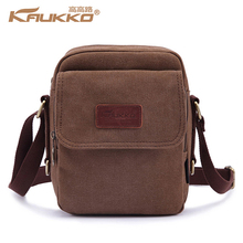 KAUKKO Small Cross Body Bag Men Vintage Canvas Messenger Retro Shoulder Bag