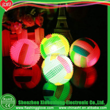Novelty Design Kid's Toy 65mm Rubber Ball With Flashing Light
