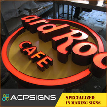 Outdoor waterproof 3d led frontlit acrylic request letter for furniture