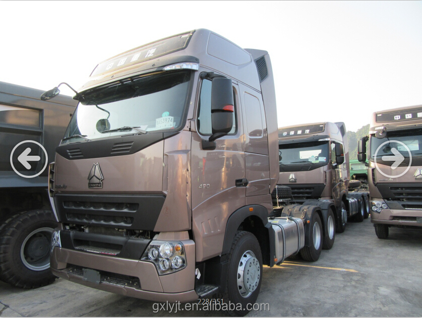 China SINOTRUK A7 4X2 / 6x4 Tractor Truck for sale with different color