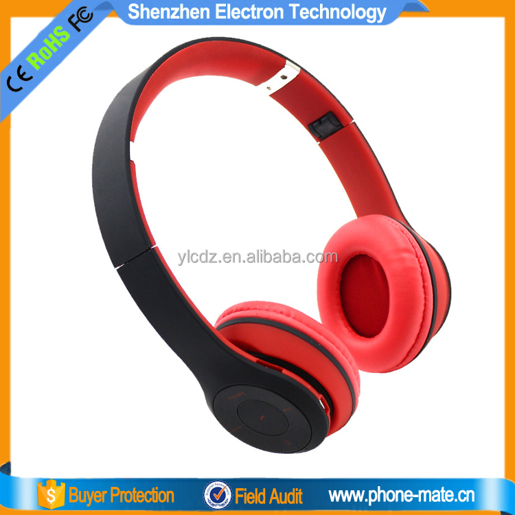 Top quality wireless headphone bluetooth headphones with mic and mp3 <strong>player</strong>