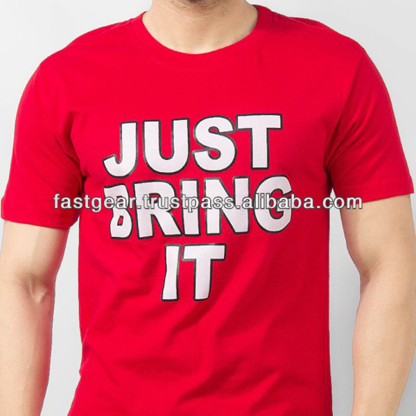 Red Cotton Just Bring It T-Shirt