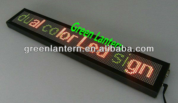 indoor wireless scrolling led display double color