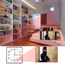WiFi Wall Clock Hidden HD Camera 720p Phone Android PC Mac Real Time Monitoring Motion Detection Remote Internet Recording PQ273