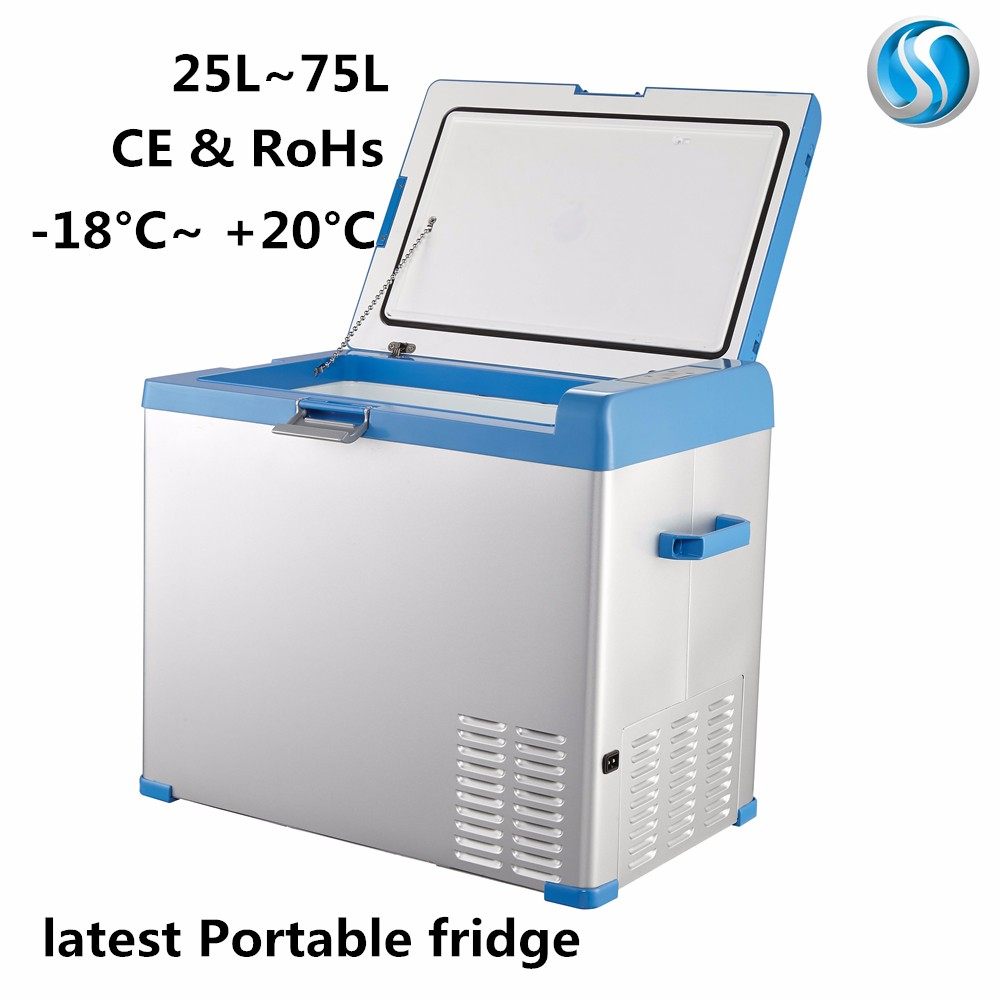 A50 portable cooler compressor refrigerator <strong>12v</strong> dc 50 liters mini travel fridge for truck