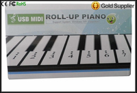 Integrated Circuits 48 USB MIDI Roll up Electronic Piano 88 Keyboard Silicone Flexible Professional Piano Keyboards drop