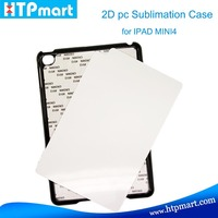 2015 New arrival popular products 2D hard pc sublimation phone case printing for IPAD MINI 4