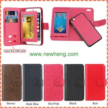 Premium PU Leather 2 in 1 Detachable Wallet Folio Flip Case for iPhone 7