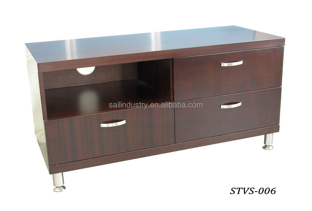 Wood LED TV Table/TV Stand Design