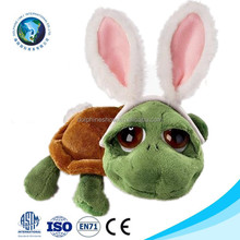 2015 Fashion easter gift plush big eyes turtle toy custom cute green stuffed soft plush turtle