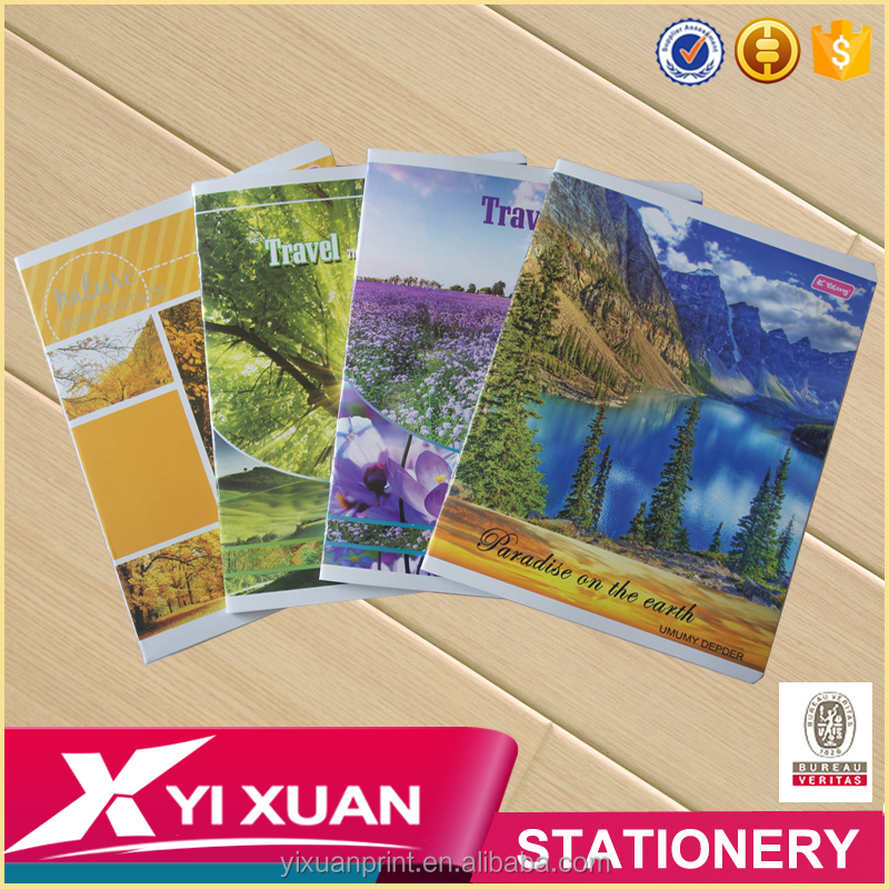 china stationery A4 paper note book school student staple seyes exercise notebook
