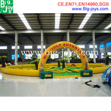 inflatable mini golf game,outdoor inflatable sport game,kids adults game