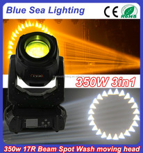 New products on china market 350 17r beam spot moving head lighting