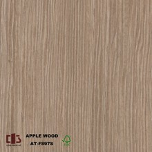 2440*1220*18mm Engineered Applewood Veneer plywood with Quarter cut
