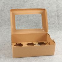 recycled kraft paper divider cake box